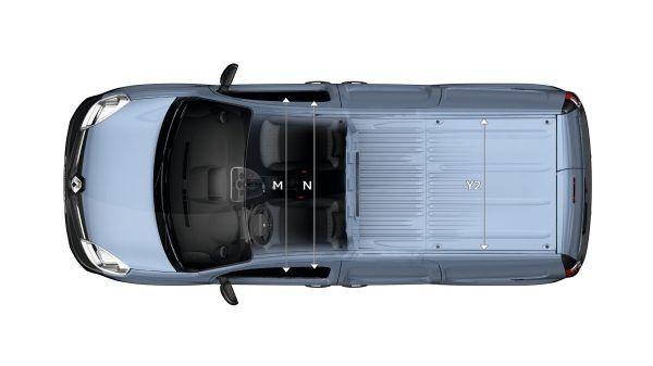 Renault KANGOO Z.E. доступний у двох версіях з двома варіантами довжини. Дізнайтеся більше про його розміри.