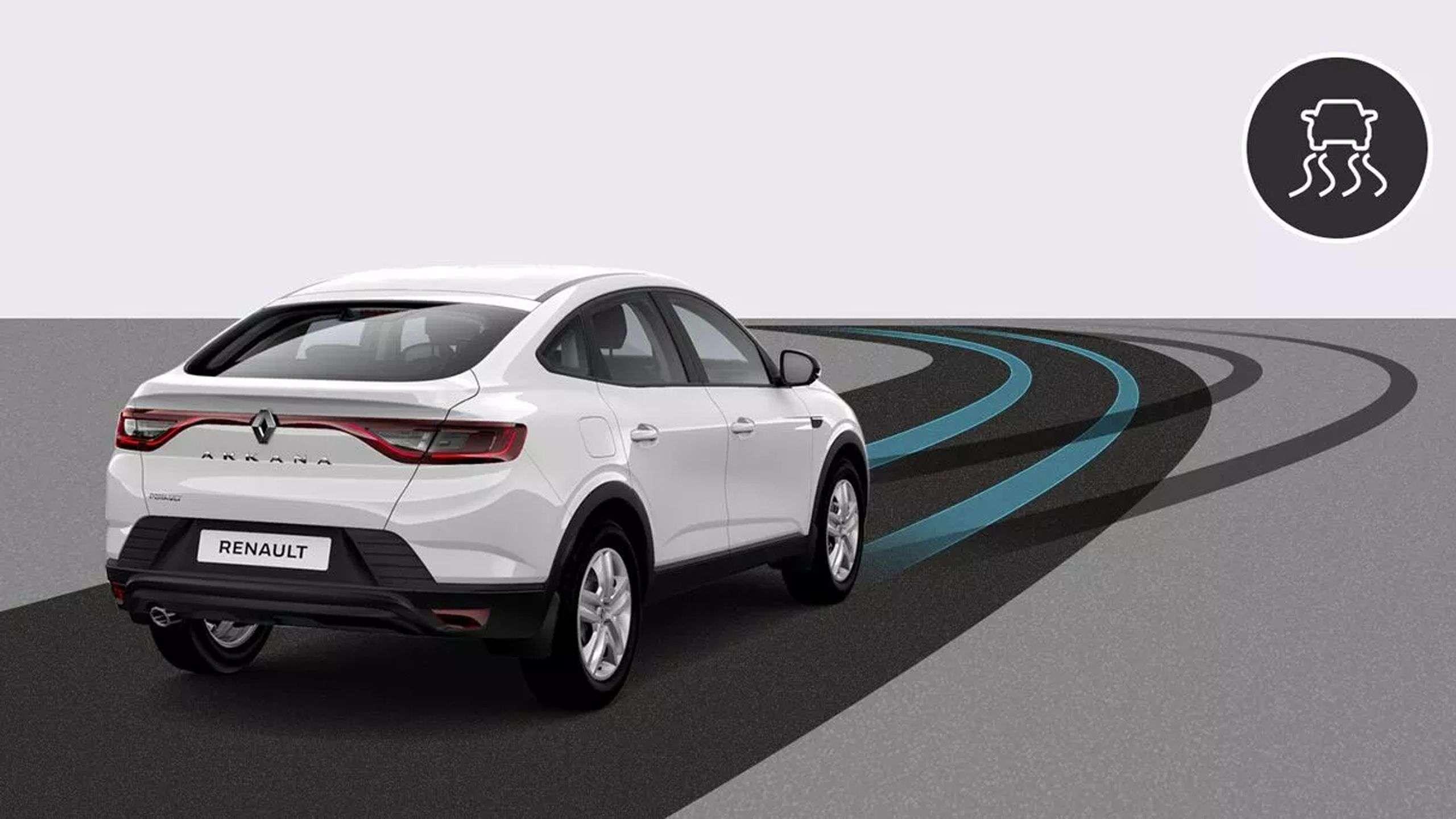 Новий Renault ARKANA обладнаний усіма традиційними системами безпеки.