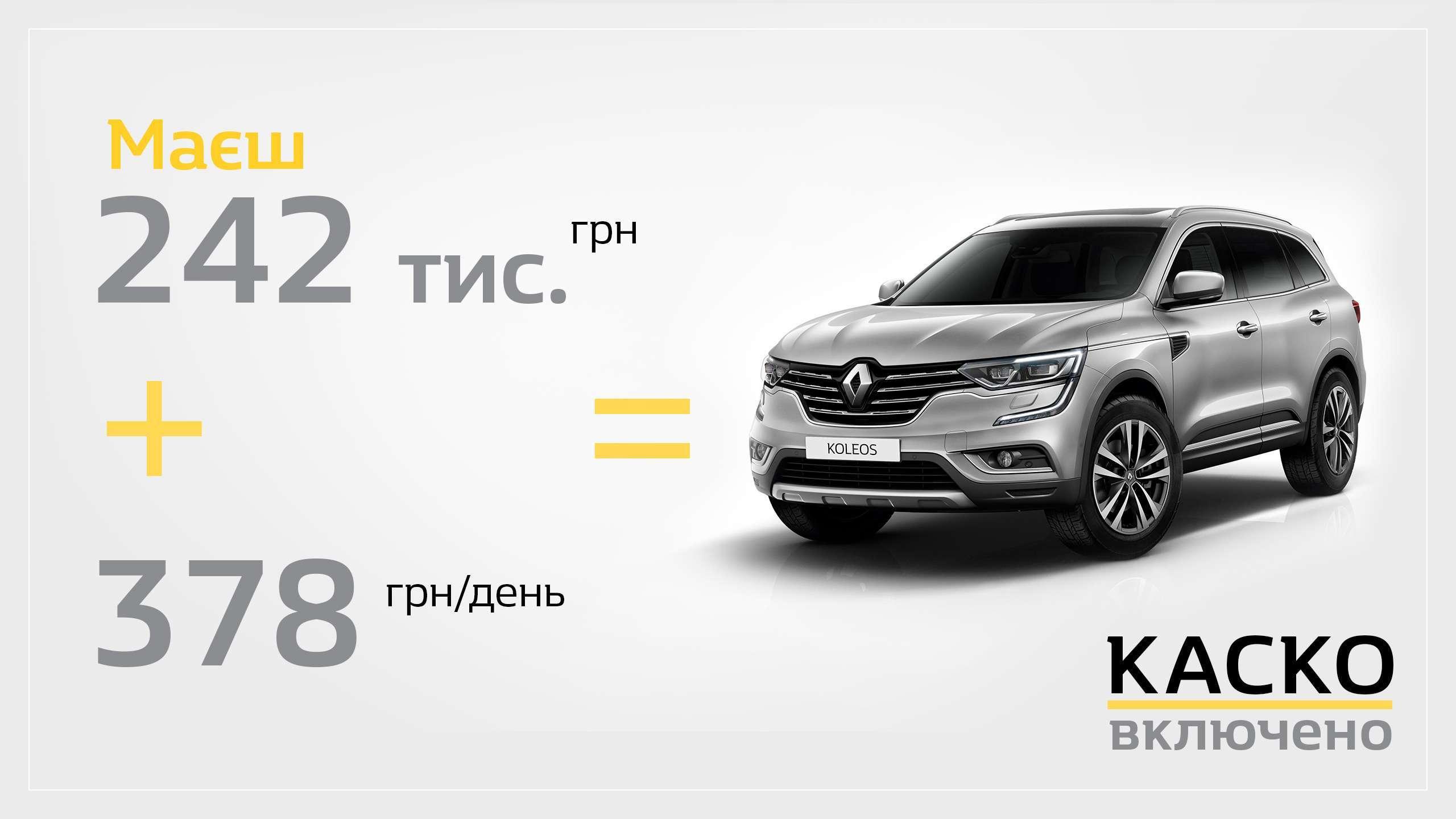 Заощаджуйте 70 000 грн за кредитною програмою «Renault Бонус»!